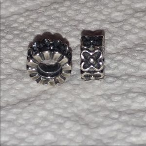 Authentic Pandora flower charms